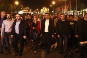 Protest 2-1 Zaev pred Vlada