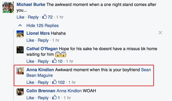 Девојка на ирскиот навивач вели дека е чудно вака да го види нејзиното момче