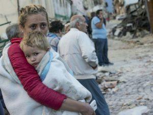 """Земјотресот се случи непосредно пред да се одржи 50. издание Фестивалот на шпагетите """"Ал Аматричана"""" (Фото: АНСА)"""