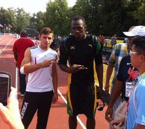 Пандев ќе трча на 100 метри, дисциплината на славниот јамајкански спринтер Јусеин Болт, со кого се запозна на Светското првенство во Москва