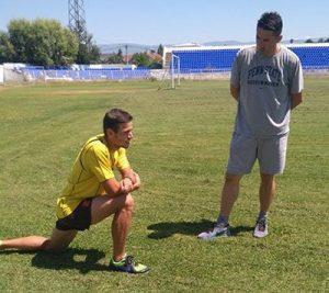 Тренер на Пандев е поранешниот олимпиец Ванчо Стојанов