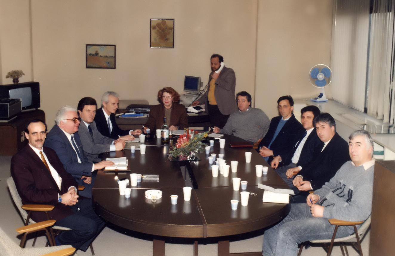Колегиумот на Информативната програма на МТВ во деведесттите