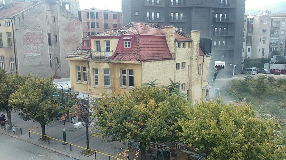 Ќе снема уште една од ретките оригинални куќи со градска архитектура во центарот на Скопје (Фото: СДК.МК)
