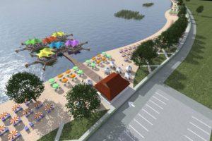 и покрај приговорот на локалните жители и наспроти сите препораки на УНЕСКО и на Министерството за животна средина ќе се гради хотел во заштитениот зелен појас во Лагадин.- Проектот за уредување на плажата во Лагадин.
