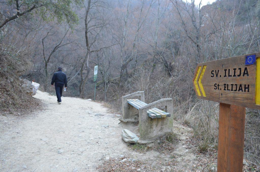 """Оваа патека се користи и за пристап до манастирскиот комплекс """"Св. Илија"""" каде на истоимениот празник има голем народен собир (Фото: СДК.МК)"""