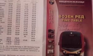 Единствениот вработен што го затекнавме ни запиша број на флаерчето со слика на новите возови (Фото: СДК.МК)