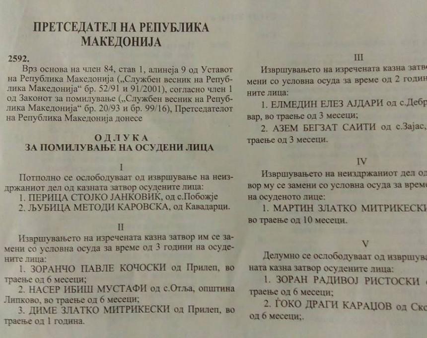 ИВАНОВ ПОМИЛУВА 26 ОСУДЕНИ ЛИЦА