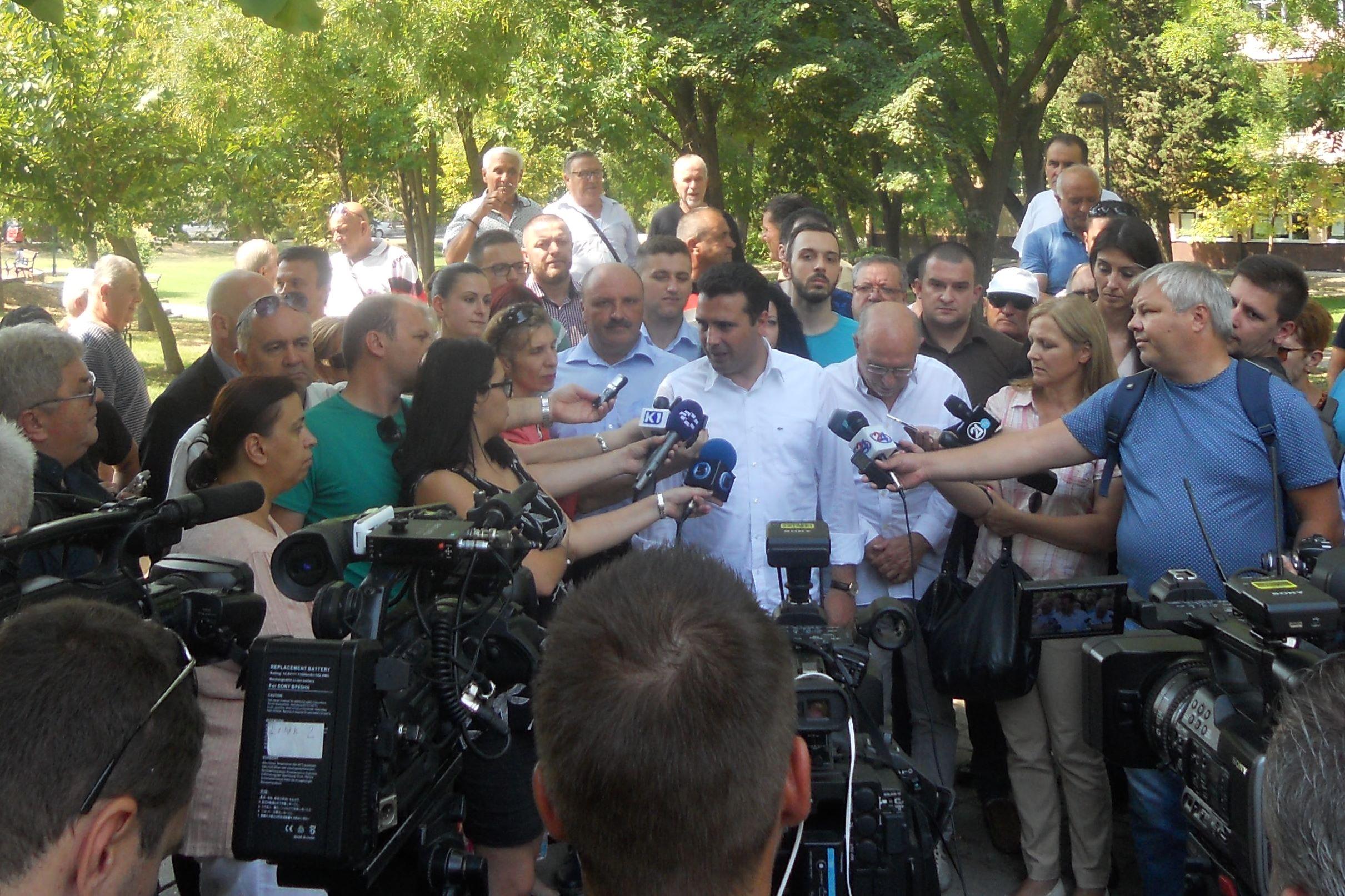 """СДСМ ЌЕ ГЛАСА """"ЗА"""" РЕФЕРЕНДУМИТЕ НА ВМРО-ДПМНЕ ЗА ДА ЈА РАЗОБЛИЧИ НИВНАТА ЛАГА И АПСУРДНОСТ, ИЗЈАВИ ЗАЕВ"""