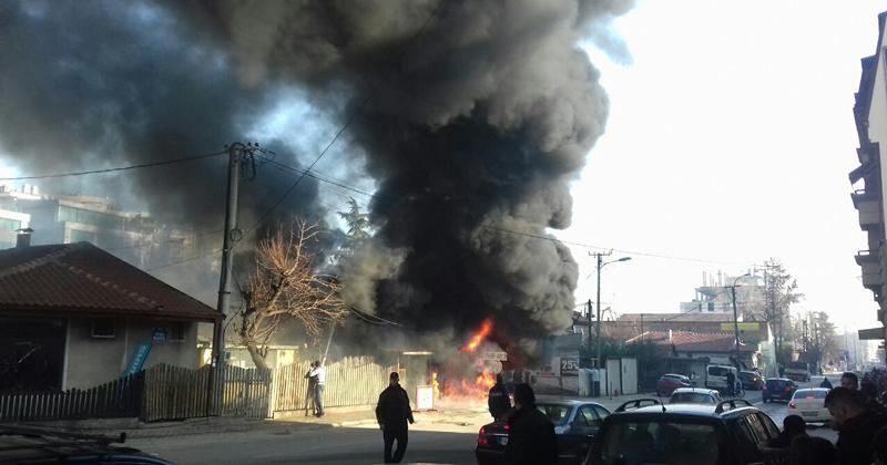 Резултат со слика за Пожар се случи на улицата Јордан Мијалков